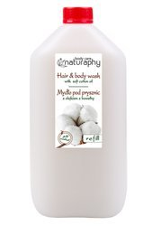 Shower soap with cotton oil 5L canister