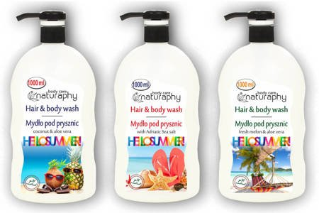 Set of holiday shower soaps 3x 1L