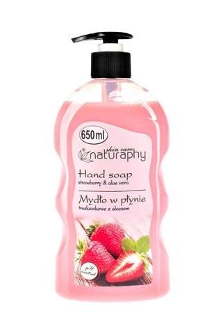 Mydło do rąk w płynie truskawkowe z aloesem 650 ml