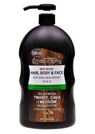 Żel do mycia twarzy, ciała i włosów dla mężczyzn z ekstraktem z aloesu 3w1 1L